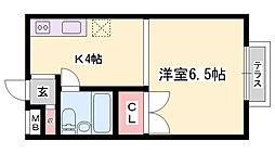 中山手7番館[202号室]の間取り