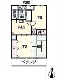マンション重徳[2階]の間取り
