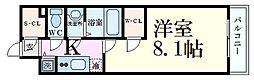エスリード京都梅小路 3階1Kの間取り