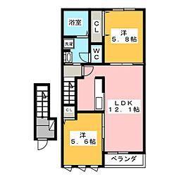 ピース ガーデン[2階]の間取り