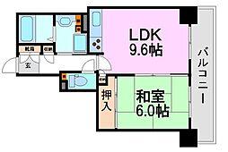 ラ・ヴェール尼崎[14階]の間取り