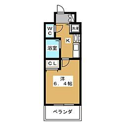 プレサンス京都四条烏丸クロス(205)[2階]の間取り