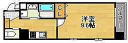レジデンシャルHHA DAIMON[4階]の間取り