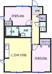 和歌山県有田郡有田川町大字庄の賃貸アパートの間取り