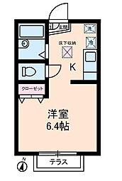 ちきゅうハウス[0102号室]の間取り