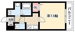 Cieluje中村日赤 4階1Kの間取り