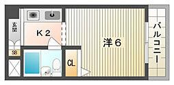 エクセレント忍ヶ丘[5階]の間取り
