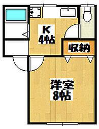 新潟県新潟市東区中山8丁目の賃貸アパートの間取り