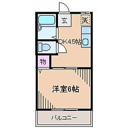 コーポオリンピア2[1階]の間取り