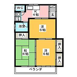 福田アパート[2階]の間取り