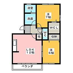 賀茂川ガーデンプレイスA[3階]の間取り