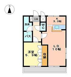 末広エステートB[2階]の間取り