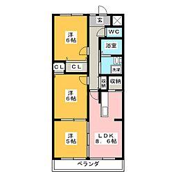 BelleEquipe(ベルエキップ)[2階]の間取り