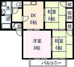 メゾントレビXIII 203[203号室]の間取り