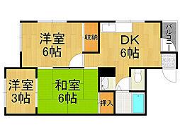 東雲マンションB[3階]の間取り