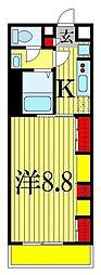 千葉県習志野市本大久保3の賃貸アパートの間取り
