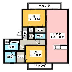 仮)JA賃貸緑区定納山[1階]の間取り