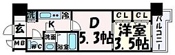 LAV神戸三宮 10階1DKの間取り