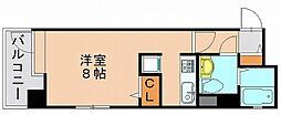 福岡県福岡市博多区博多駅南6丁目の賃貸マンションの間取り