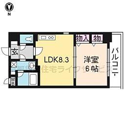 プラネシア星の子京都駅前西[205号室]の間取り