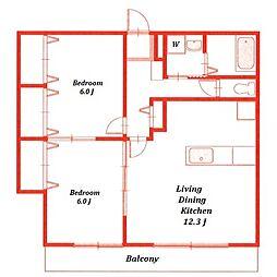 コモドカーサ[3階]の間取り