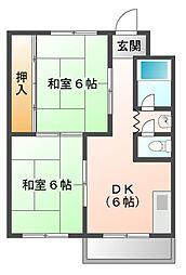 日の出マンション[3階]の間取り