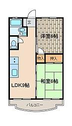 サンホワイトM202号棟[2階]の間取り