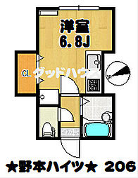 野本ハイツ[2階]の間取り