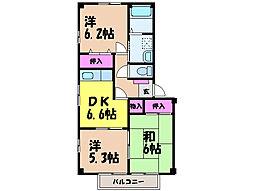 愛媛県松山市和泉南6丁目の賃貸マンションの間取り