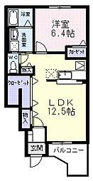ソレール B[1階]の間取り
