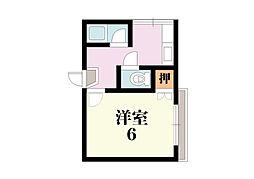 第一コーポ春日荘[303号室]の間取り
