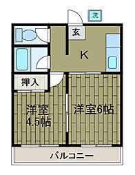 神奈川県相模原市南区相南1の賃貸マンションの間取り