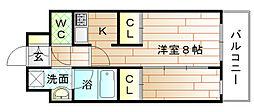 福岡県宗像市自由ヶ丘の賃貸マンションの間取り