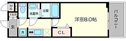 プレサンス心斎橋ソレイユ 10階1Kの間取り