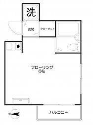 ウェルネスコート新宿[203号室]の間取り