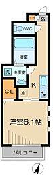 東京都目黒区八雲4丁目の賃貸アパートの間取り