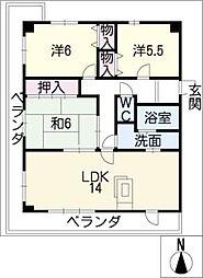 グランメール香久山[5階]の間取り