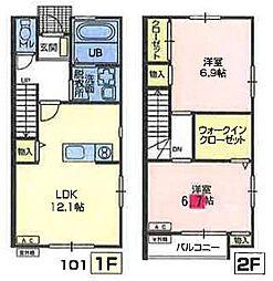 [テラスハウス] 埼玉県さいたま市岩槻区釣上 の賃貸【/】の間取り
