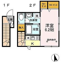 Foglia[2階]の間取り