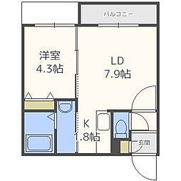 パインヴィレッジ3[1階]の間取り