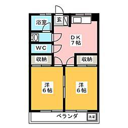 第1岐南ビル[4階]の間取り