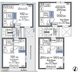 都営大江戸線 清澄白河駅 徒歩12分の賃貸マンション 4階ワンルームの間取り