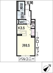 レザン II棟[1階]の間取り