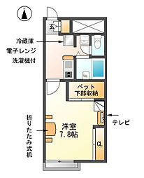 愛知県あま市七宝町秋竹壱町田の賃貸アパートの間取り