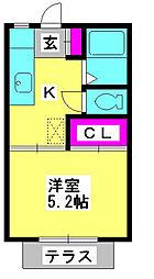 フューチャーコーポサエキ[1階]の間取り