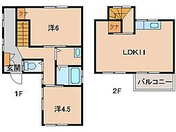 [一戸建] 和歌山県和歌山市粟 の賃貸【/】の間取り