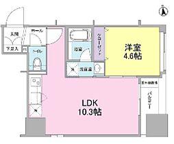 新築 リバーレ東新宿[802号室号室]の間取り