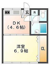 メゾンドアムール[2階]の間取り