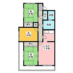 ラクラッシイ社ヶ丘[1階]の間取り