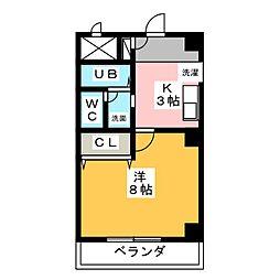 ルミエール・W[1階]の間取り